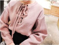 Women S Knitting Sweater Discounts New Winter Lace Sweet Round Loose Necked Sweater Women S Sweaters