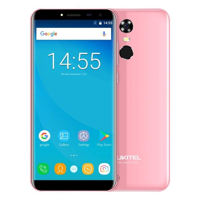 Oukitel C8 5.5″ 18:9 Infinity Display Android 7.0 MTK6580A Quad Core Smartphone 2G RAM 16G ROM 3000mAh Fingerprint Mobile Phone