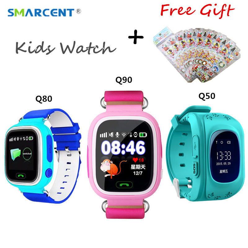 Original Q90 GPS Wifi Positioning Smart Watch For Kids Baby Q50 Touch Screen SOS Call Smart Watch Q80