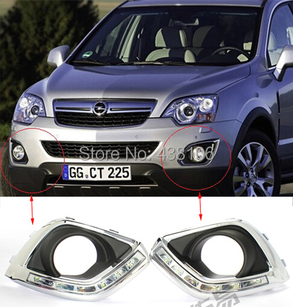 Hot sale ! 2010-2012 Opel Antara Daytime Running Light Fog light High Quality LED DRL fog lamp 12V 6000k 2pcs/set