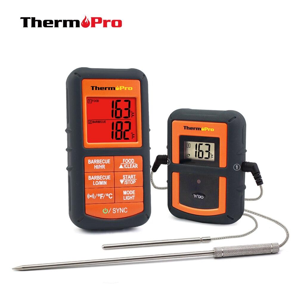 ThermoPro TP 08S дистанционный беспроводной Кухонный Термометр  для еды дистанционный барбекю, курильщик, гриль, духовка, мясо мониторы  еда от 300 футовgrill makergrill badgegrill cooler