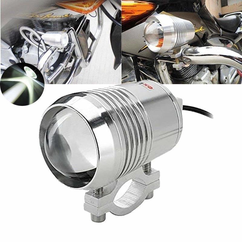 Motorcycle LED Spotlight 30W  U2 Spot Light Chrome Housing 6000K- 7000K Super Bright Motor Running Light Driving Lamp (1-Pa