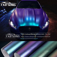 Wholesale Pearl Matte Chameleon Vinyl Purple / blue /red Vinyl Car Wrap Film With Air Bubble Free CAST Car Vehicle Styling foil