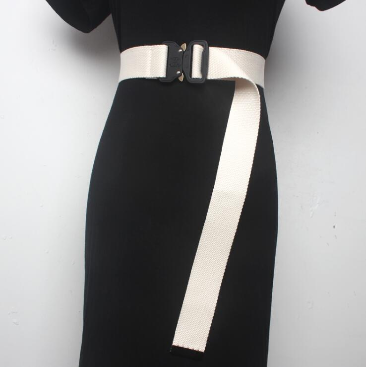 Women's Runway Fashion Candy Color Knitted Cummerbunds Female Dress Corsets Waistband Belts Decoration Wide Belt R1688