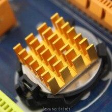 50 Pieces/lot 14x14x6mm Cooler Fins CPU CGA Card Golden Radiator Aluminum