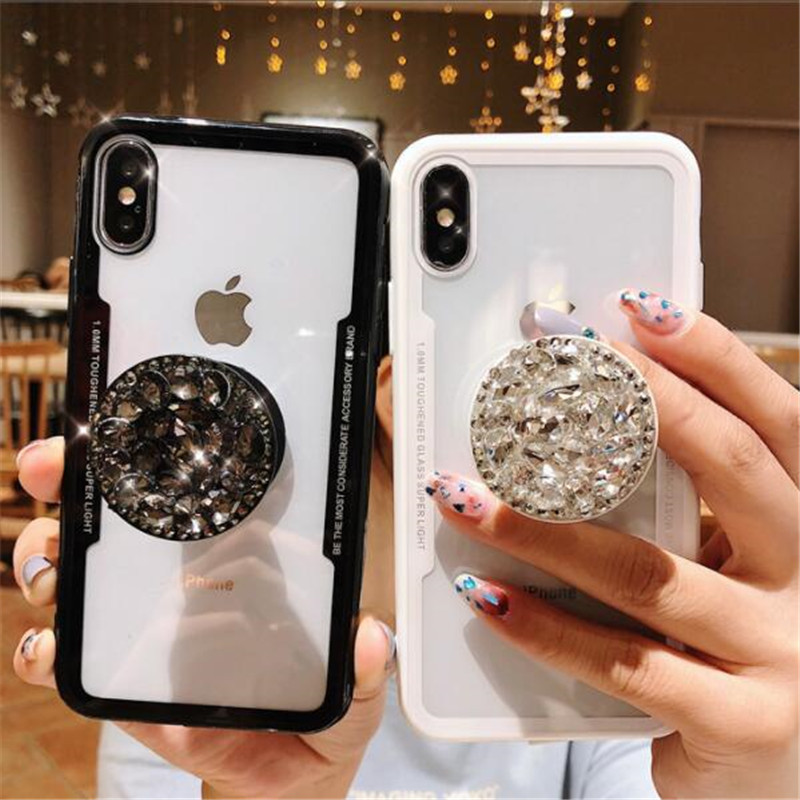 low priced 885f5 a0b87 Luxury Fashion Diamond Air Stand Holder Phone Case for iPhone X XS ...
