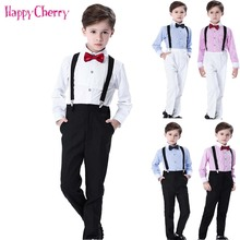 3pcs Boy Formal Suit Blazers for Weddings Prom Party Costumes Children Slim Fit Suit Sets Tuxedo Kids Pants Shirt Bow Tie 2018 summer nimble boys suits plaid formal suit for boy prom children england style suit blazers for weddings party kids tuxedos