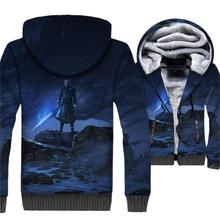 streetwear hip-hop wool polyester jackets men Game of Thrones brand clothes 2019 winter thick rib sleeve jacket coats 3D Printed