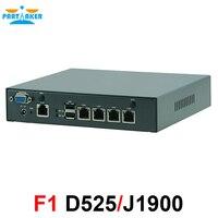 Мини ПК четырехъядерный Celeron J1900 Intel Atom D525 процессор сетевой безопасности Управление Desktop маршрутизатор брандмауэра мини компьютер 4 LAN