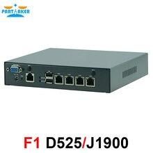 Mini PC Celeron J1900 Quad Core Intel Atom D525 Processor Network Security Control Desktop Firewall Router Mini Computer 4 LAN