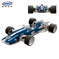 XINGBAO 03022 Technic series blue sonic Racing Car Eagle Weslake Mk1 T1G Model Building Blocks Bricks Educational Toys Boy Gifts
