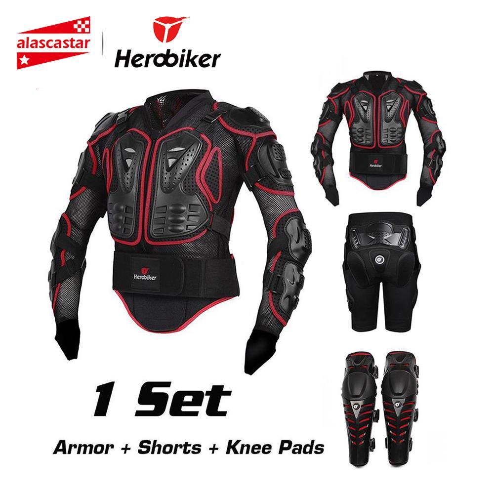 HEROBIKER Uomini del Rivestimento del Motociclo di Protezione Armatura Del Motociclo Motocross Abbigliamento Da Corsa Full Body Armatura Protettiva Gear Moto Armatura