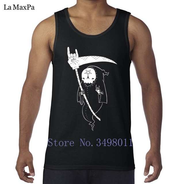656e7b24 create Kawaii Death Is Metal Tank tops men bodybuilding singlets Great Vest  for men Sleeveless Shirts Fitted plus size 3xl