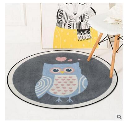 DD nouveau tapis rond Animal de bande dessinée chambre/salon/salon de Table/panier suspendu/tapis de jardin/chaise d'ordinateur et plancher - 2