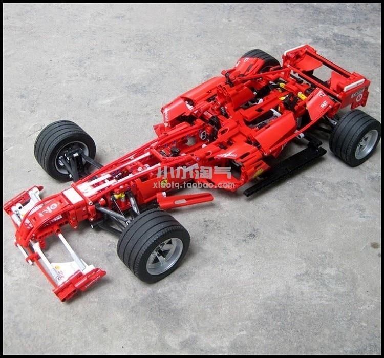 1242pcs 1:8 Racing Car Model Building Blocks ชุดอิฐของเล่นเพื่อการศึกษาเด็กของขวัญเทคโนโลยี-ใน บล็อก จาก ของเล่นและงานอดิเรก บน   1