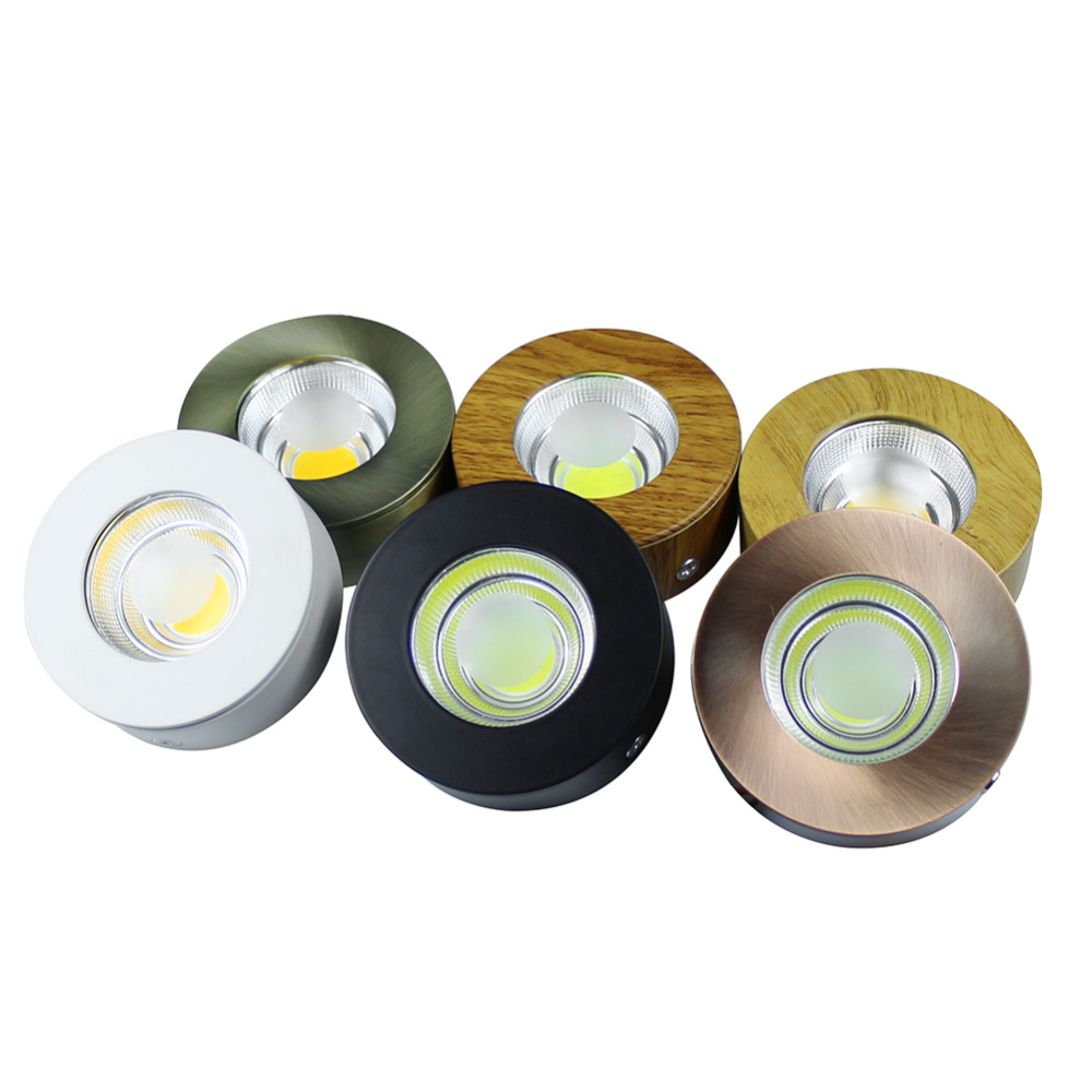 5W AC110V 220V COB led cabinet light Round ceiling light Surfaced mounted white/warm white with led driver home decoration