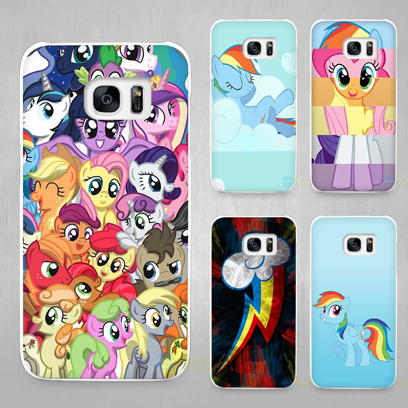my little pony hard white coque shell case cover phone cases for samsung galaxy s4 s5 s6 s7 edge. Black Bedroom Furniture Sets. Home Design Ideas
