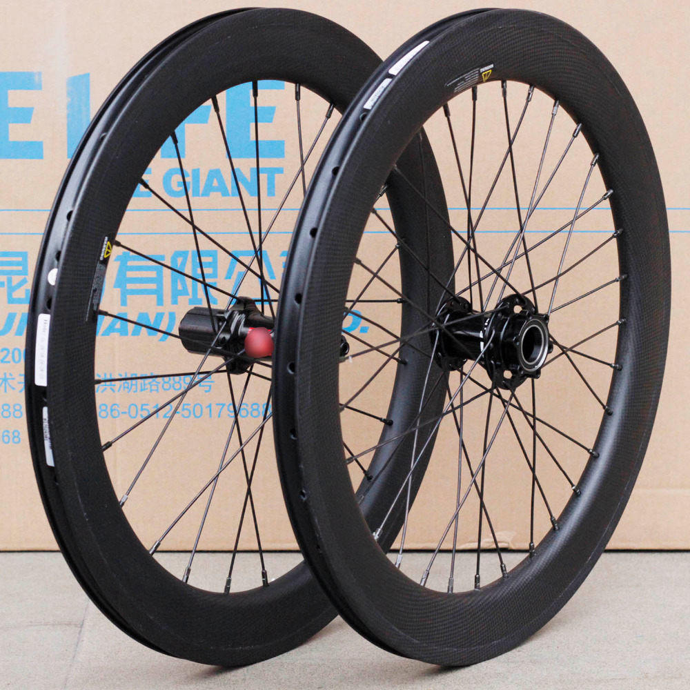 20 451 Carbon Wheelsets Minivelo Wheels with Lefty Hubs Calipter Disc Brake 50mm Width For C a n n o n d a l e Mini Velo Bikes carbon fiber 20 wheelsets 20h 24h 451 wheels rim v caliper brake for 20 folding bike minivelo recumbent bike 3k glossy matte