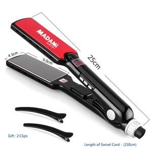 Image 2 - MCH 470F גבוהה טמפרטורת רחב צלחות קרטין מיישר מגהצים מסתלסלים כלי טיטניום מקצועי שיער מחליק שטוח ברזל