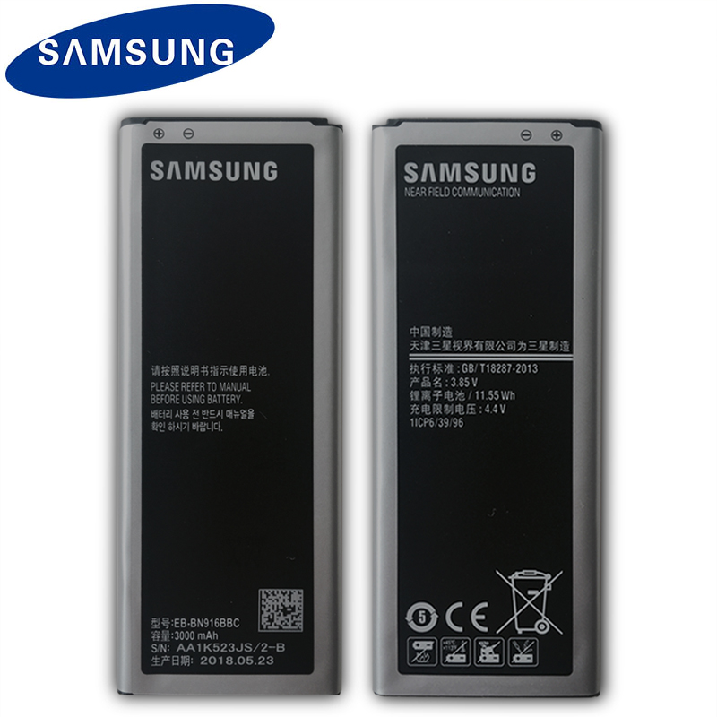 Samsung Original Replacement <font><b>Battery</b></font> EB-BN916BBC For Samsung GALAXY NOTE4 N9100 N9108V N9109V N9106W <font><b>NOTE</b></font> <font><b>4</b></font> with NFC <font><b>3000mAh</b></font> image