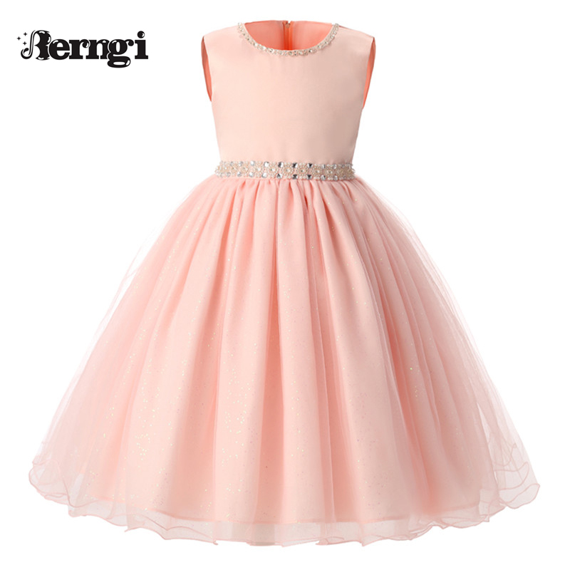 New summer Pink Children Dresses For Girls Kids Formal Wear Princess Dress For Baby Girl 8 Year Birthday Party Dress bbwowlin pink baby girls formal dresses vestido infantil for 0 2 years birthday pary christmas for kids princess dress 9055