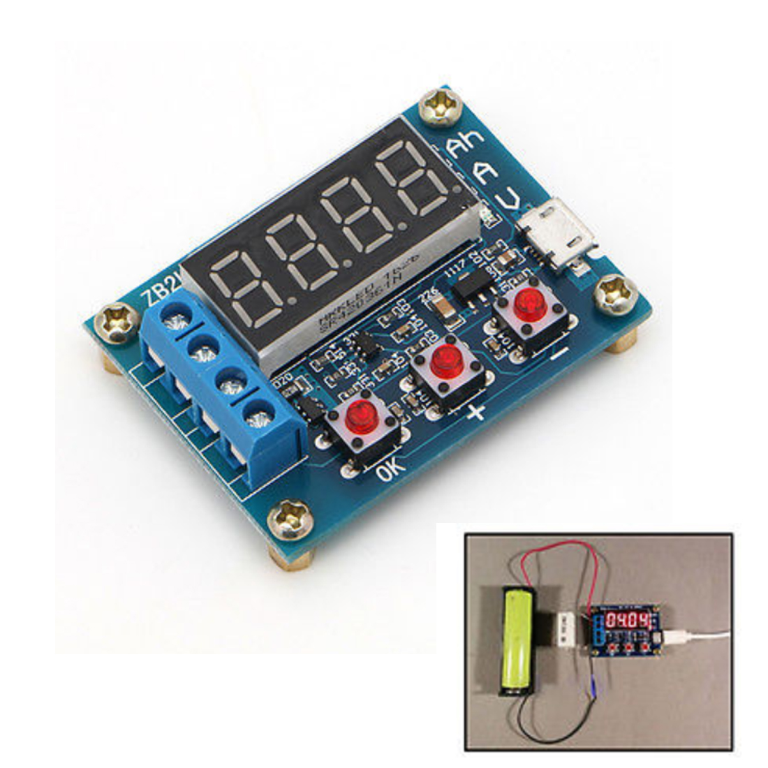 Hot 1.2v 12v 18650 Li-ion Lithium Battery Capacity Tester + Resistance Lead-acid Battery Capacity Meter Discharge Tester battery capacity tester resistance testing mobile power lithium lead acid battery can be 18650 serial line 20w page 2