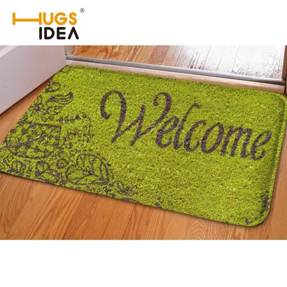 HUGSIDEA Vtipný uvítací koberec Vchodové koberce Doormats Měkký neklouzavý flanelový domácí koberec do obývacího pokoje Kuchyňské koberce Tapis Alfombra