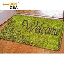 HUGSIDEA Funny Welcome Carpet Entrance Doormats Soft Non Slip Flannel Home Carpet for Living Room Kitchen Rugs Tapis Alfombra