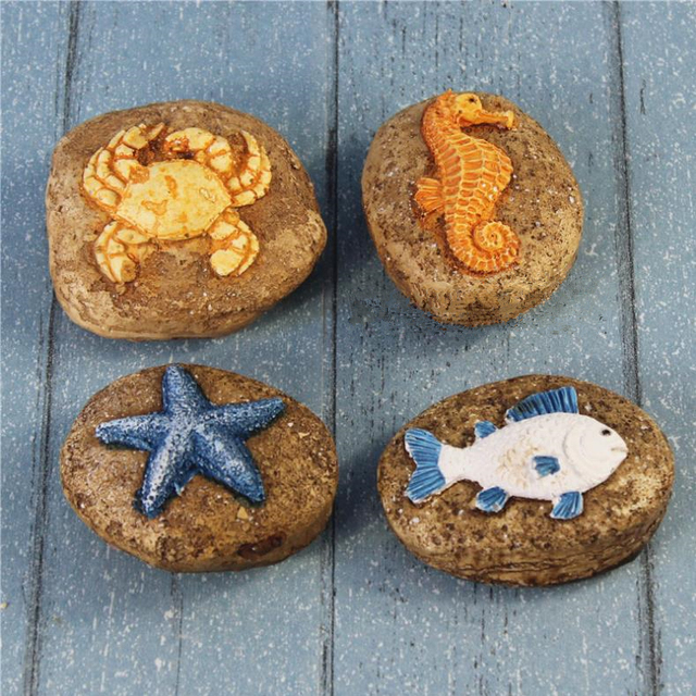 Mediterrane Accessoires mediterrane marine stijl hars steen garnalen aquarium decoratieve