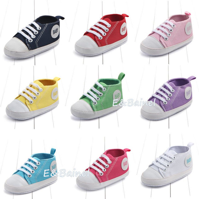 df29a8aa4 New Canvas Sports Classic Sneakers Newborn Baby Boys Girls First Walkers Shoes  Infant Toddler Soft Sole Anti-slip Baby Shoes