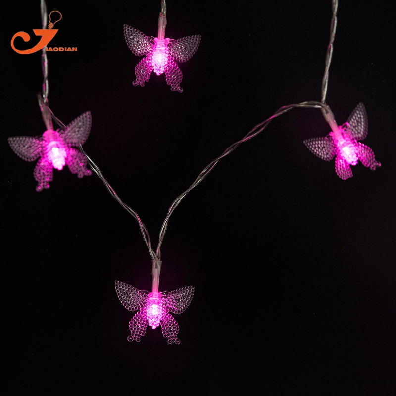 butterfly pink lighting 10 led flower love animal string lights party wedding decoration lamp garden home - Decorative String Lights