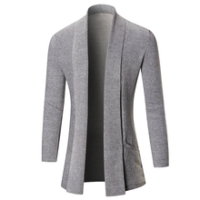 Fashion & Elegant Men Sweater Long Cardigan for Man Sweater Outer Wear Coat Knit Sweaters 3 Colors Available