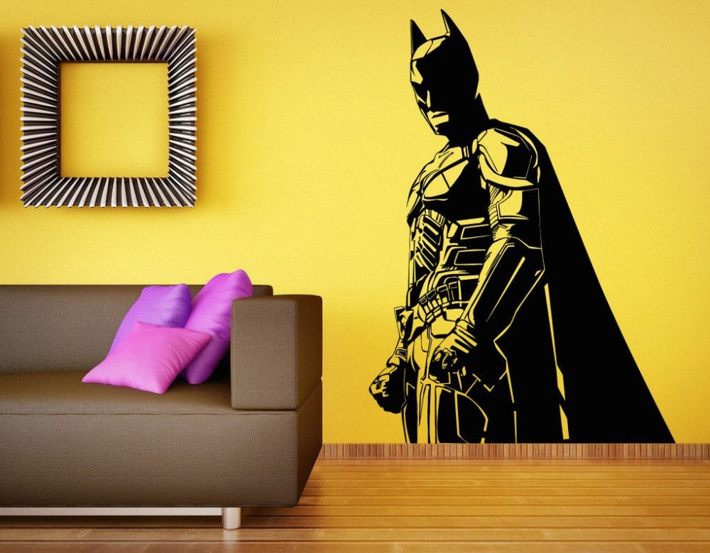Wallpaper batman wall decal vinyl sticker the dark knight for Dark knight mural
