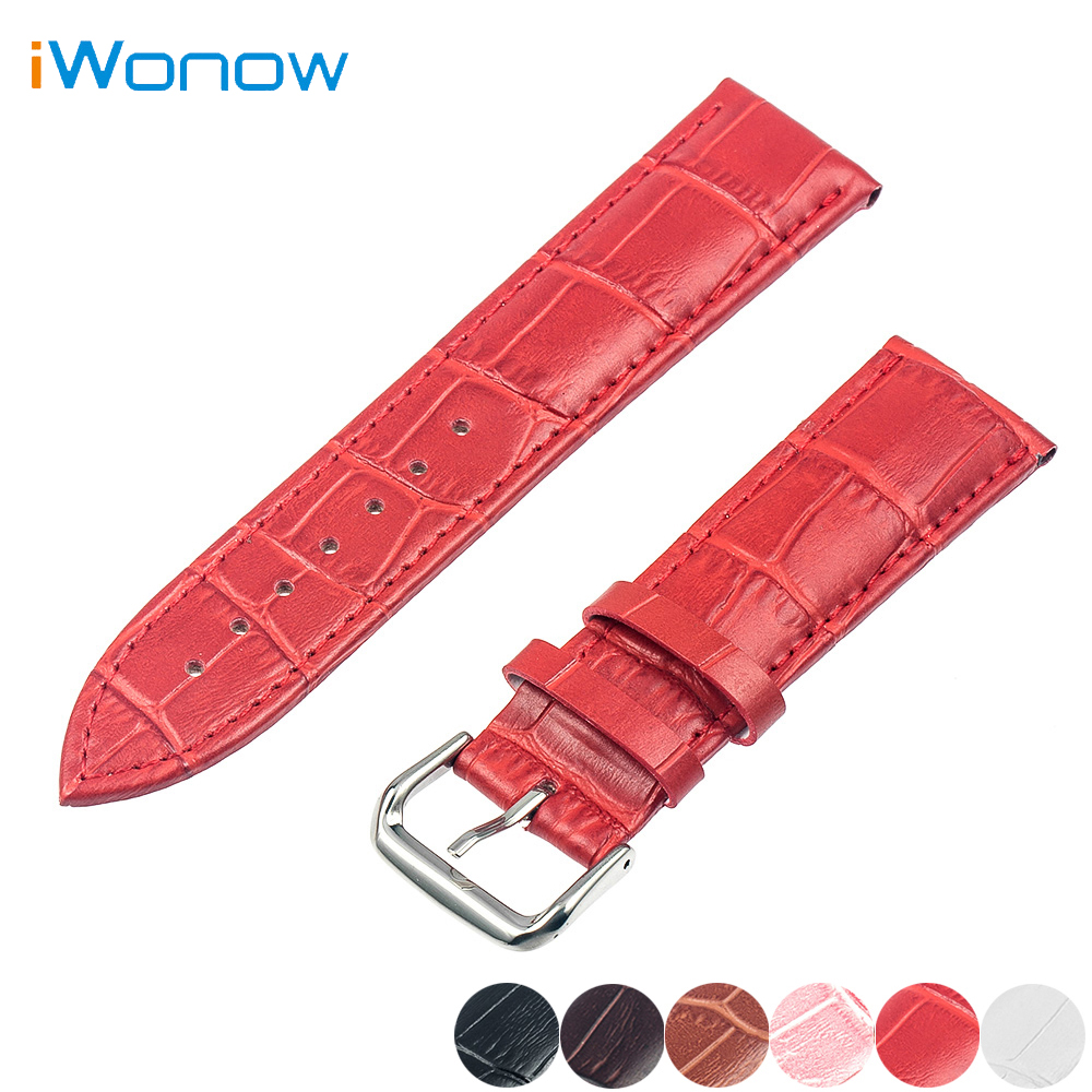 Genuine Leather Watch Band 16mm for Moto 360 2 42mm Huawei Talkband B3 Women's Stainless Pin Buckle Strap Wrist Belt Bracelet genuine leather watch band 20mm for motorola moto 360 2 42mm men 2015 stainless buckle strap wrist belt bracelet black brown