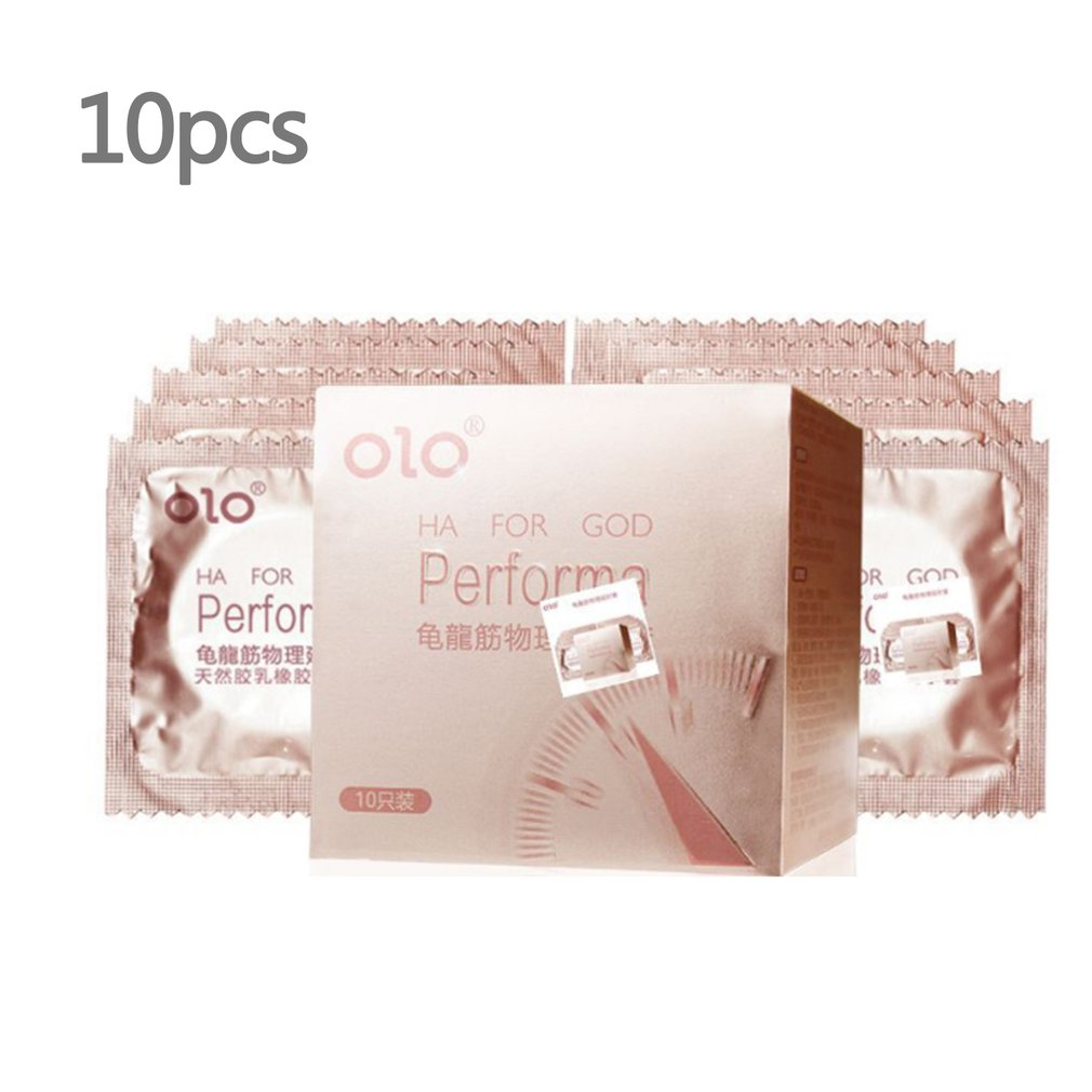 10pcs High Quality Natural Emulsion Condoms Time Delay Condom Lubrication Condones Penis Sleeve Safer Contraception For Men in Condoms from Beauty Health