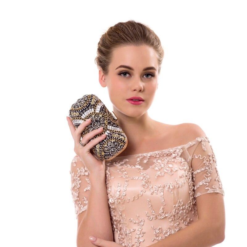 SEKUSA Bolso de noche de cristal para mujer Bolsos de embrague con - Bolsos - foto 4