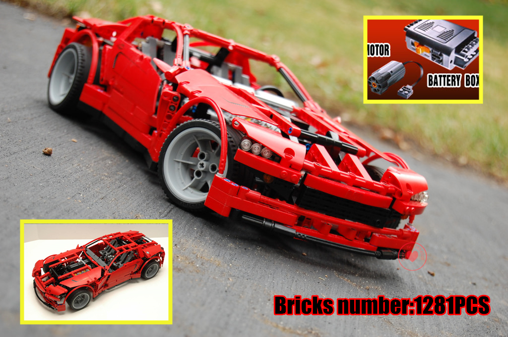 New technic series Super Car fit legoings technic car motor fuction power city Building Blocks Bricks Toys DIY kid gifts 8070