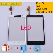 Touchscreen For LG L60 X145 X135 Touch Screen Panel Sensor Digitizer Front Glass Outer Lens NO LCD Replacement 4.3