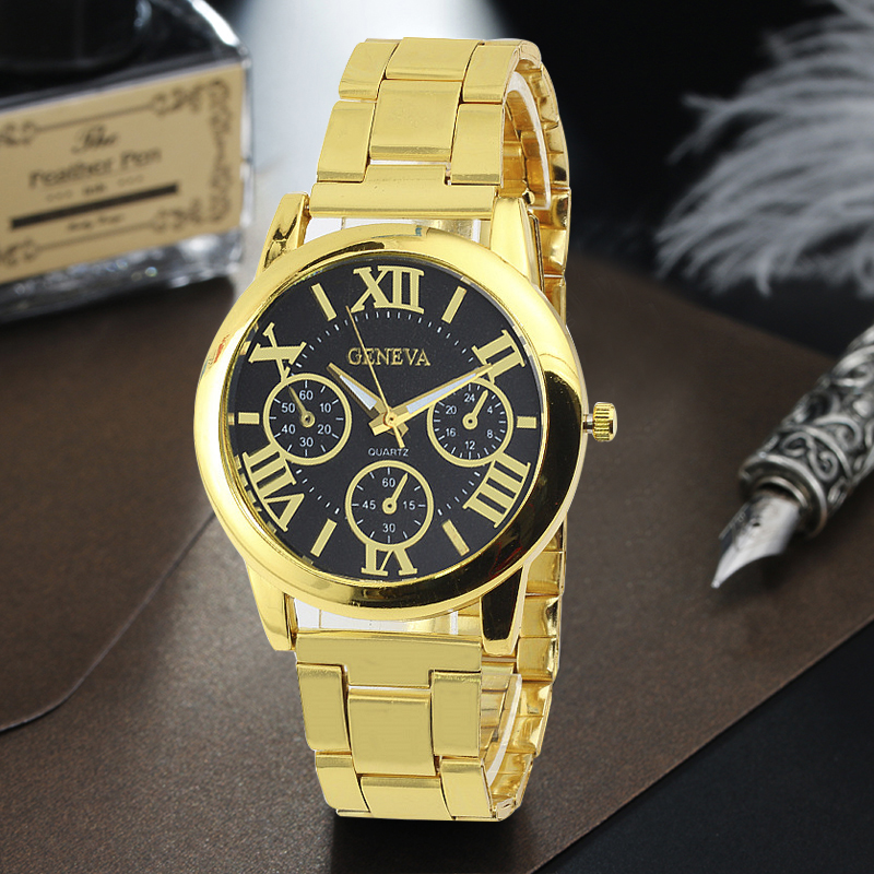 Luxury Gold Steel Men's Quartz Watch Fashion Casual Dress Business Watches 7 Color Clock Sports Wristwatches Relogio Masculino