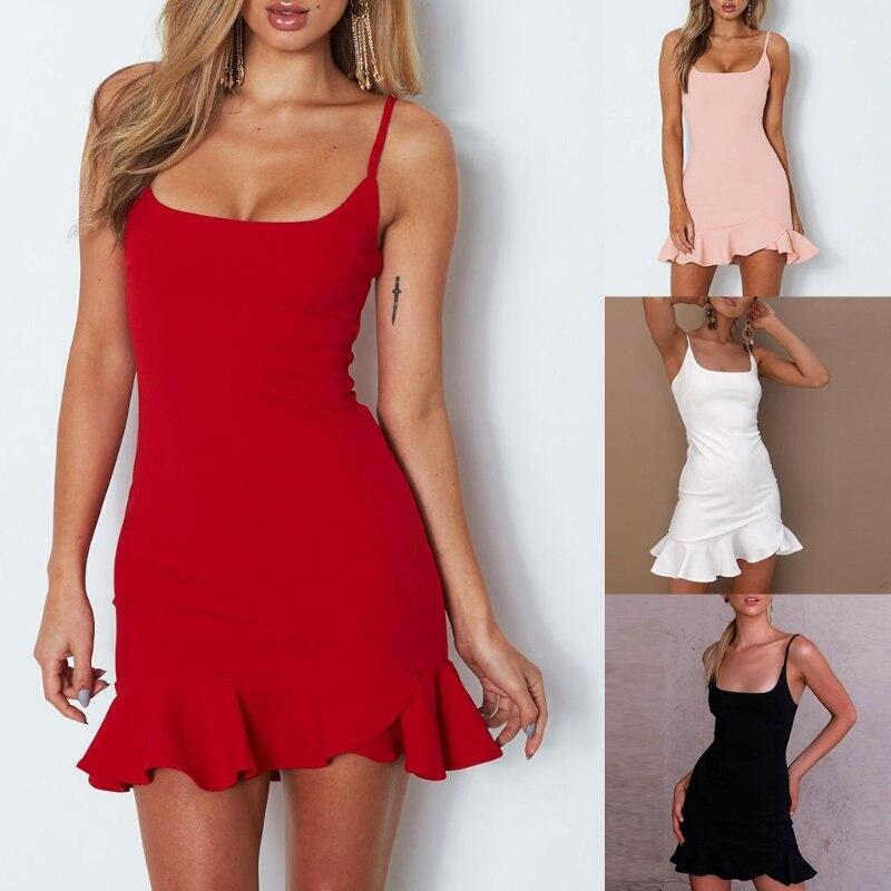 Для женщин летние с квадратным вырезом без рукавов с открытой спиной Strappy Однотонная повседневная обувь плиссированное платье