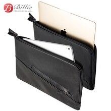 حقيبة لاب توب الحقيبة حقيبة ل جديد ماك بوك برو 13 بوصة حقيبة جلد طبيعي ل ماك بوك 13 A1706/A1708 دفتر حقيبة جهاز كمبيوتر محمول