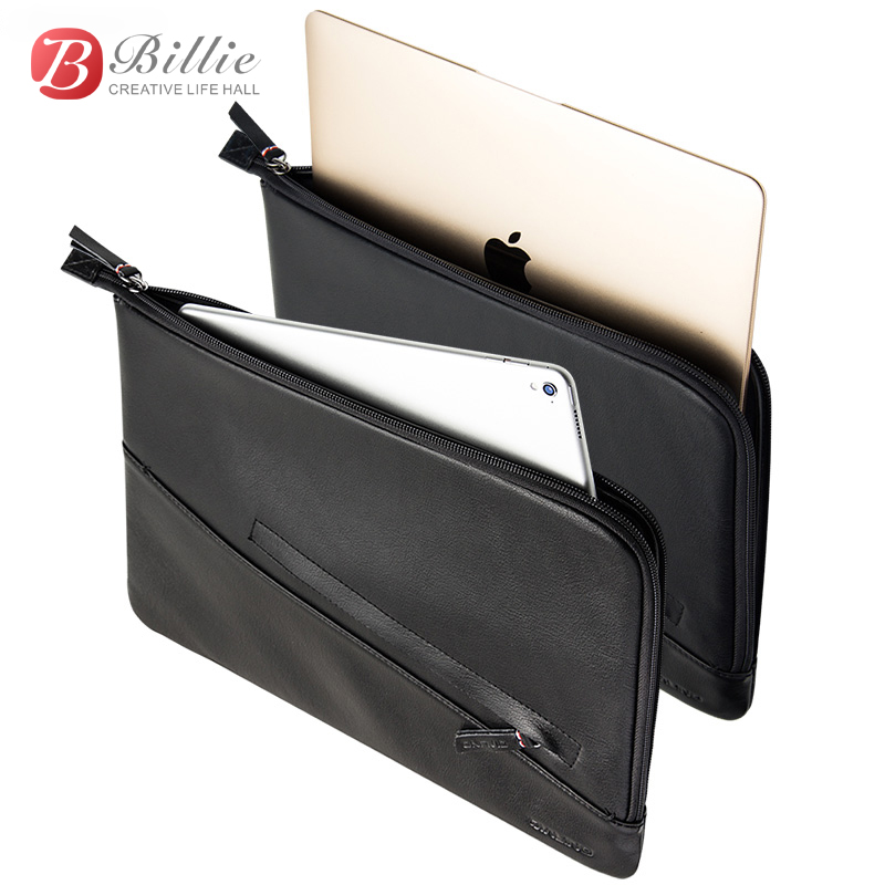 Laptop Sleeve Pouch Case Bag For New Macbook Pro 13 inch Case Genuine Leather For macbook 13 A1706/A1708 Notebook Laptop Cover-in Laptop Bags & Cases from Computer & Office