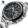 WWOOR 8013 men Watches Brand Luxury Men Military Wrist Watches Full Steel Men Sports quartz Watch Waterproof Relogio Masculino