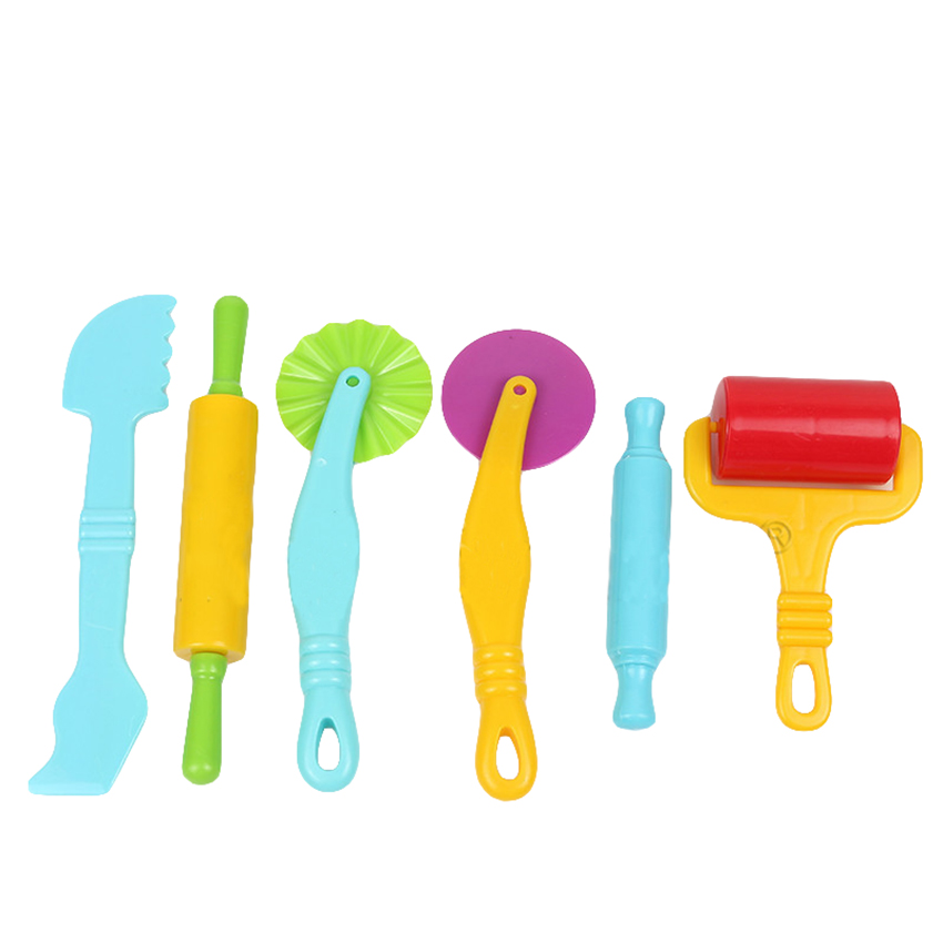 6Pcs Color mud clay Model Tool Toys Creative 3D Plasticine Tools Set new