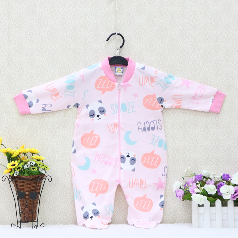 Baby Boys and Girls   Rompers   for summer and autumn Soft fabric with print Pure Cotton Clothes Long Sleeve Clothing
