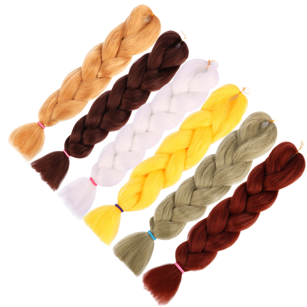 Hair Extensions & Wigs Jumbo Braids Liberal Box Jumbo Braids 24 Kanekalon Synthetic Braiding Hair Bulk For Women Pure Braiding Hair Extensions 1 Tone 24 Colors Jb 30#-s13 A Complete Range Of Specifications