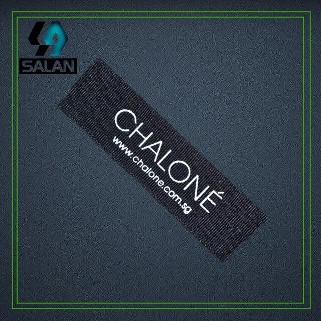 customize silkscreen print black cotton tags logo never fade color tags  cottonkids garment label damask woven label 6b1474f355