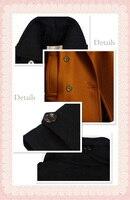 мода женская грудь верхняя одежда с отложным стоит большой размер старинные стиль британцев Chest пальто женщина