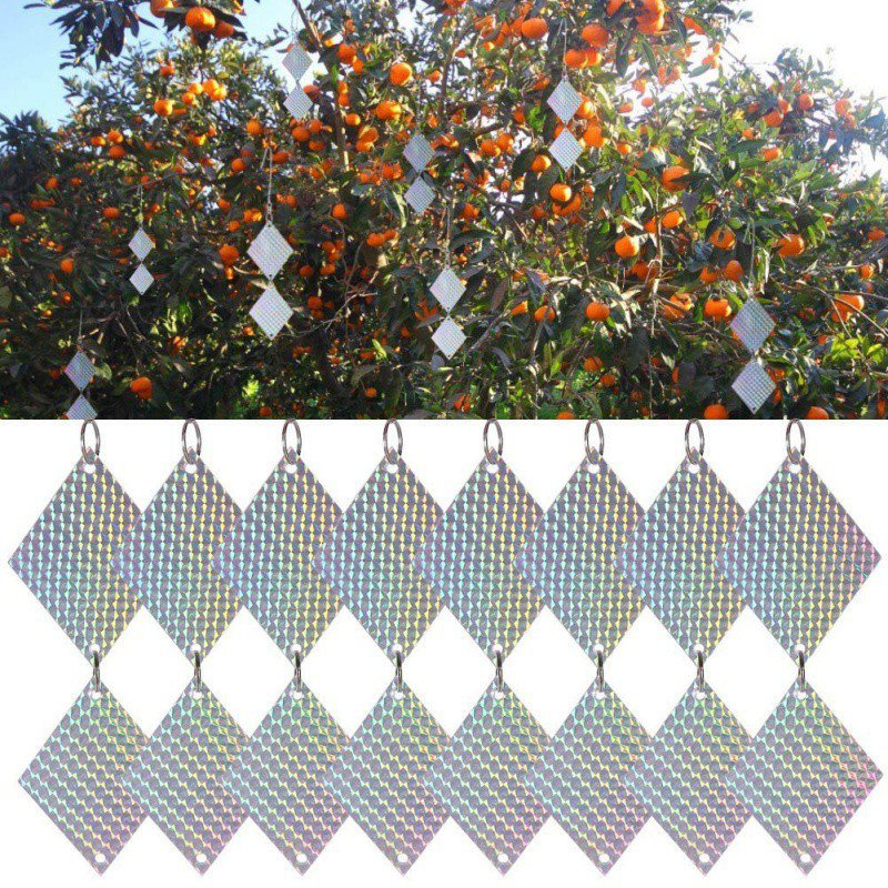 Diamond-Shaped Reflective Bird Repellent Reflector Keeps Birds Away From Your House Orchard Gardening Protective Equipment