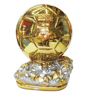 New Football Cups Trophy Soccer 19CM 1.2KG World Player of the Year Ballon d'Or Golden Trophies Champions Fans Souvenir